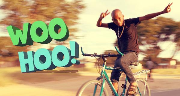 fairfoodbike partner ben-namibia Mann freihändig auf Fahrrad